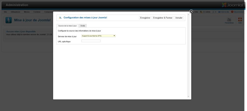 Migration Joomla 2.5 vers 3 : configuration