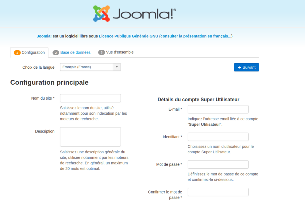 installation joomla filezilla