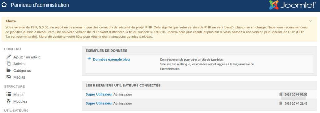 Votre version de PHP, 7.0.32, ne reçoit en ce moment que des correctifs de sécurité du projet PHP