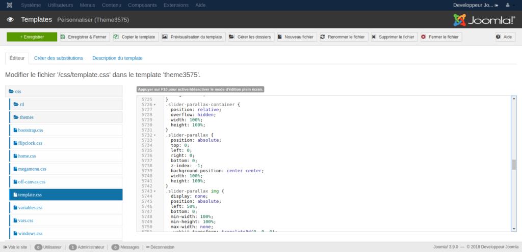 personnaliser template joomla 2.5