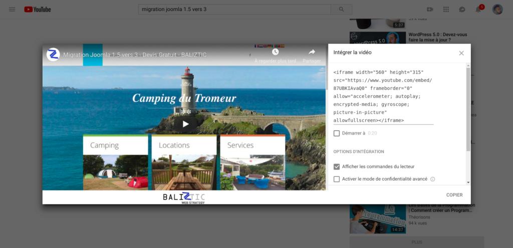composant vidéo Joomla