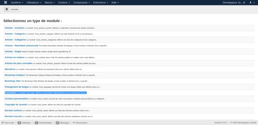 Module connexion Joomla 2.5