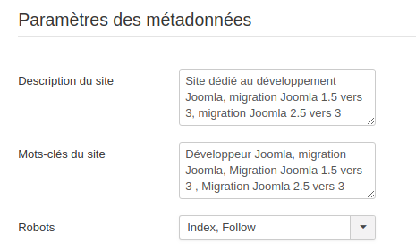 Referencement Joomla